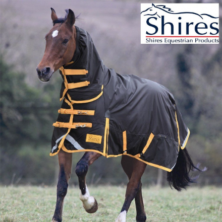 Shires Stormbreaker Turnout 300g Combo Black & Yellow